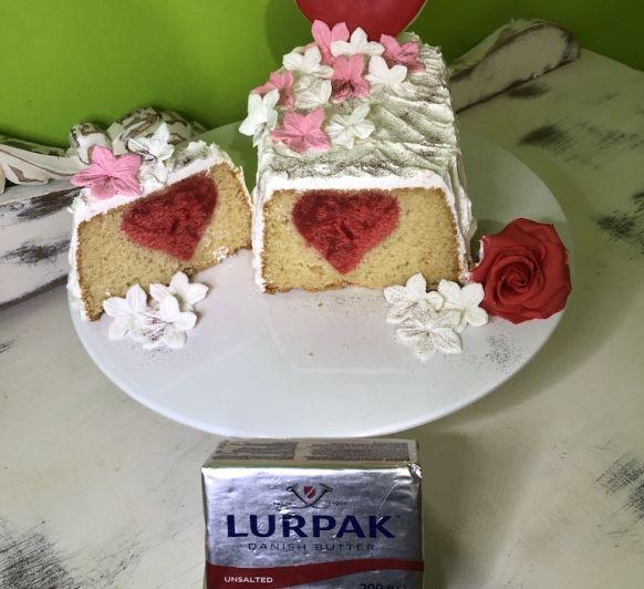 CAKE CON CORAZON para san valentin