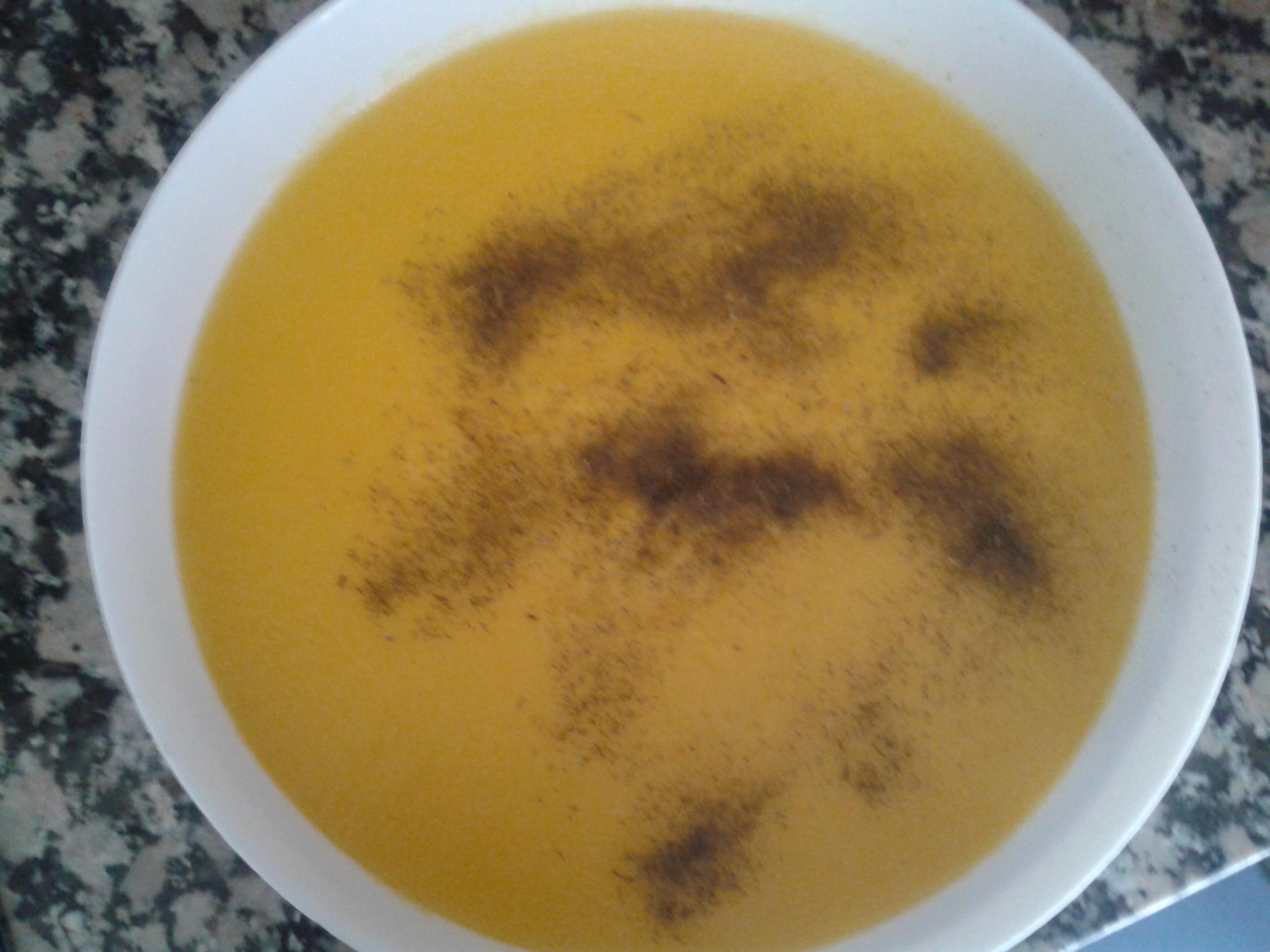 Crema de patatas, puerros y zanahorias