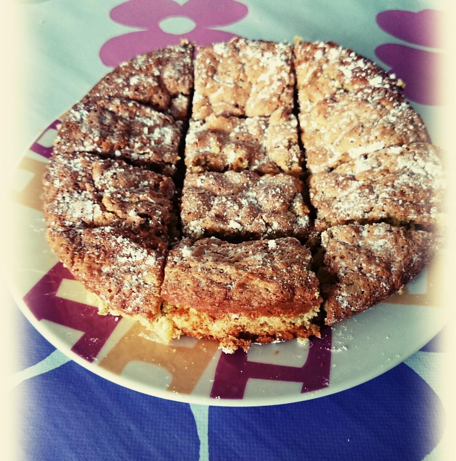 Brownie de chocolate blanco y pistachos...fácil y rápido con Thermomix®