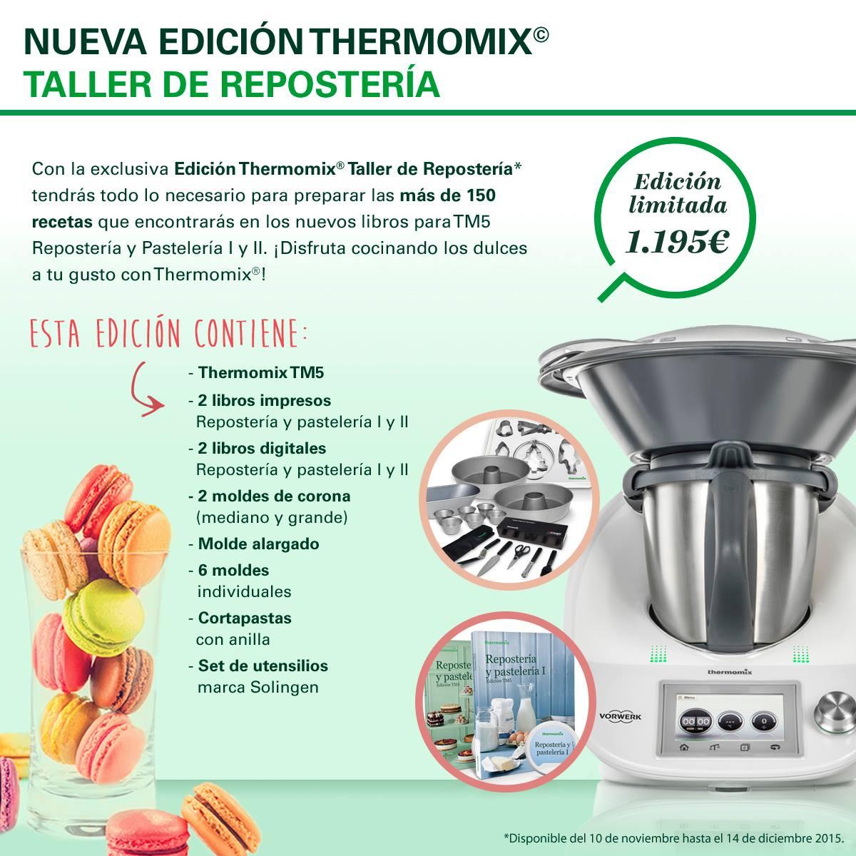 NUEVA EDICION Thermomix® TALLER DE REPOSTERIA