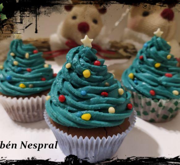 Cupcakes de Navidad.