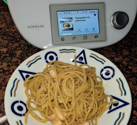 Espaguetis a la carbonara.